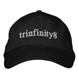 Trinfinity8 Adjustable Hat with White Lettering Embroidered Baseball Cap