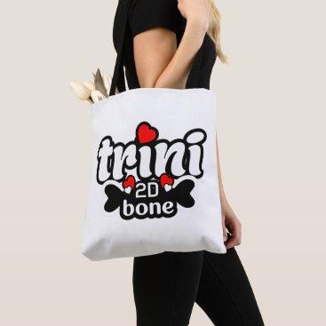 Beach Themed Trini 2D Bone (2 Sided)) Tote Bag