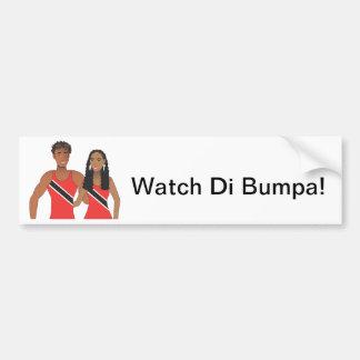 Trini Couple Bumper Sticker