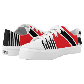 Trini Flag with pinstripes Low-Top Sneakers