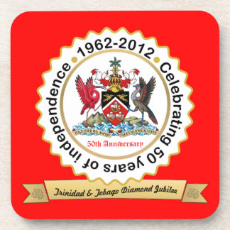 Trinidad and Tobago 50th Anniversary Coat Of Arms Beverage Coaster
