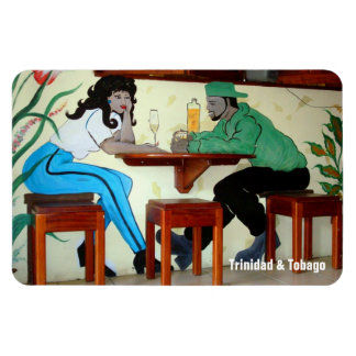 Trinidad and Tobago Bar Scene Mural Magnet