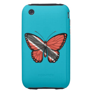 Trinidad and Tobago Butterfly Flag Tough iPhone 3 Cover
