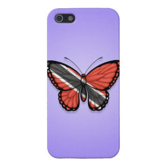 Trinidad and Tobago Butterfly Flag on Purple Case For iPhone 5
