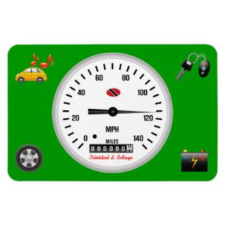 Trinidad and Tobago Car Speedometer Rectangular Photo Magnet
