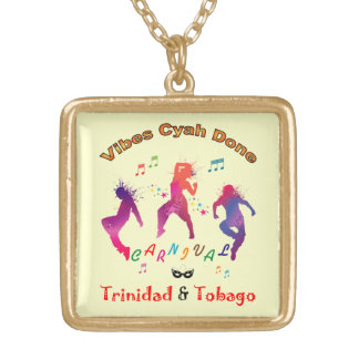 Trinidad and Tobago Carnival Bacchanal Gold Plated Necklace