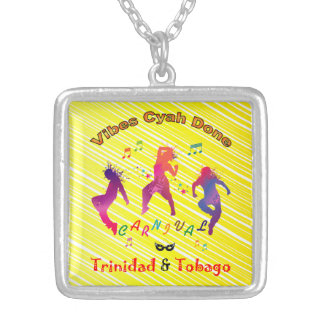 Trinidad and Tobago Carnival Bacchanal Silver Plated Necklace