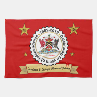 Trinidad and Tobago Coat Of Arms Diamond Jubilee Hand Towels