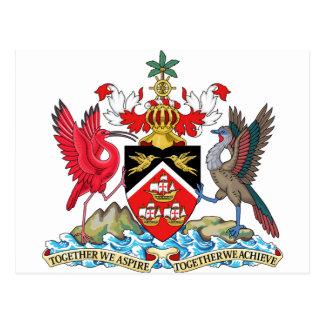 Trinidad and Tobago Coat of Arms Postcard