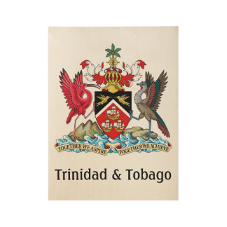 Trinidad and Tobago Coat Of Arms Wood Poster