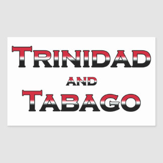 Trinidad and Tobago (color text) Rectangular Sticker