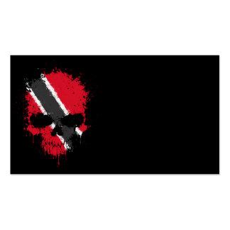 Trinidad and Tobago Dripping Splatter Skull Business Card