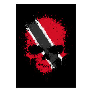 Trinidad and Tobago Dripping Splatter Skull Large Business Cards (Pack Of 100)