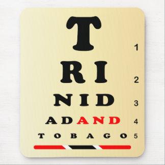 Trinidad and Tobago Eye chart and Flag Mouse Pad
