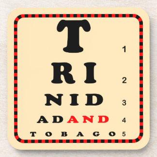 Trinidad and Tobago Eye Chart Beverage Coaster
