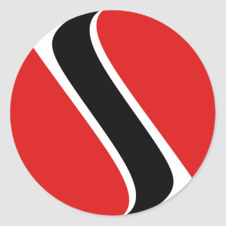 Trinidad and Tobago Fisheye Flag Sticker