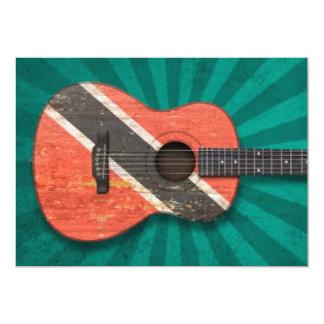 Trinidad and Tobago Flag Acoustic Guitar, teal Card