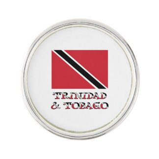 Trinidad and Tobago Flag and Words Lapel Pin