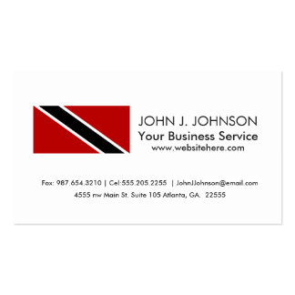 Trinidad and Tobago Flag Business Card