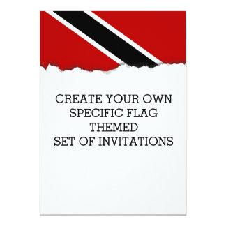 Trinidad and Tobago Flag Card