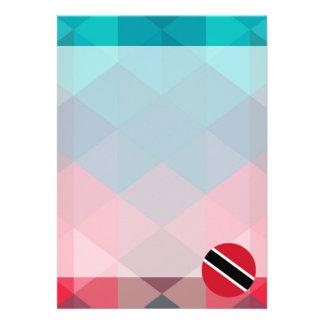 Trinidad and Tobago flag circle on modern bokeh Card