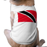 Trinidad and Tobago Flag Dog T Shirt