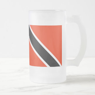 Trinidad and Tobago Flag Frosted Glass Beer Mug