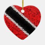 Trinidad and Tobago Flag glitter ornament
