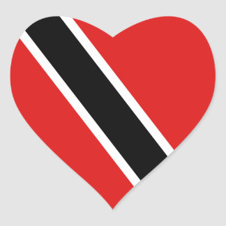 Trinidad and Tobago Flag Heart Sticker
