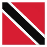 "Trinidad and Tobago Flag Invitation 5.25"" Square Invitation Card"
