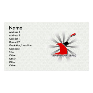 Trinidad And Tobago Flag Map 2.0 Business Card