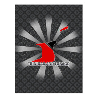 Trinidad And Tobago Flag Map 2.0 Postcard