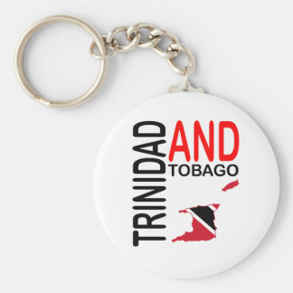 Trinidad and Tobago Flag Map Keychain