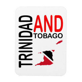 Trinidad and Tobago Flag Map Magnet