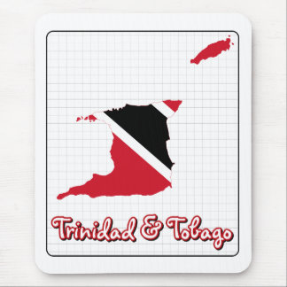 Trinidad and Tobago Flag Map Mouse Pad