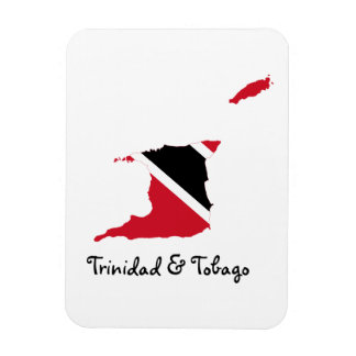 Trinidad and Tobago Flag Map Rectangular Photo Magnet