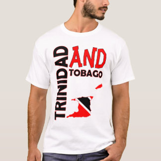 Trinidad and Tobago Flag Map T-Shirt