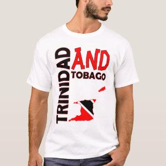 Trinidad and Tobago Flag Map T-Shirt