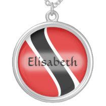 Trinidad and Tobago Flag   Name Necklace