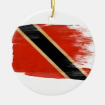 Trinidad and Tobago Flag Double-Sided Ceramic Round Christmas Ornament