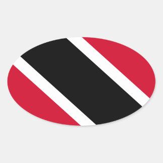 Trinidad and Tobago Flag Oval Sticker