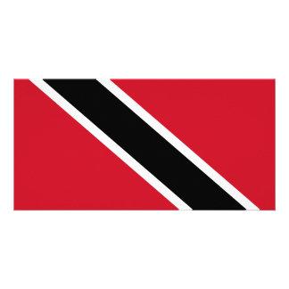 Trinidad and Tobago Flag Personalized Photo Card