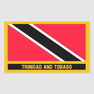 Trinidad and Tobago Flag Rectangular Sticker