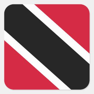 Trinidad and Tobago Flag Square Sticker