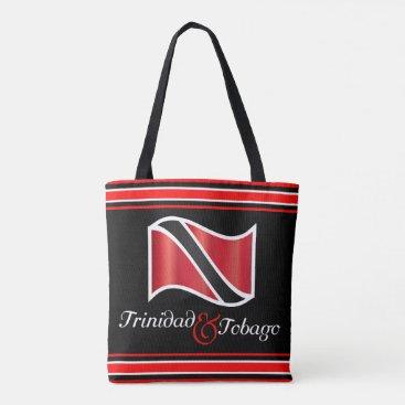 Beach Themed Trinidad and Tobago Flag Tote Bag