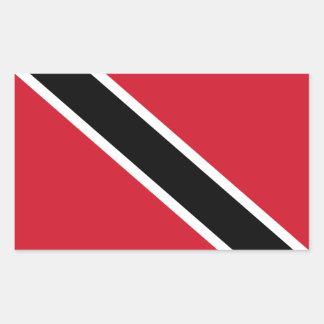 Trinidad and Tobago Flag (Trinidadian/Tobagonian) Rectangular Sticker