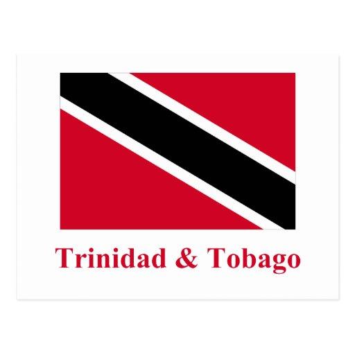 Trinidad and Tobago Flag with Name Postcard