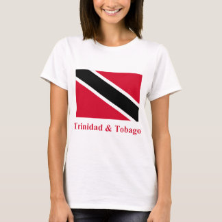 Trinidad and Tobago Flag with Name T-Shirt