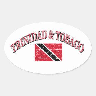 Trinidad and Tobago football design Oval Sticker