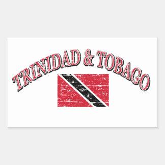 Trinidad and Tobago football design Rectangular Sticker